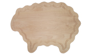 Sheep shaped wood cutting board