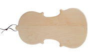Violin shaped wood cutting board