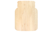 Novelty mason jar shaped maple cutting board