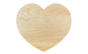 Novelty heart shaped wood cutting board