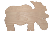 Moose shaped wood cutting board